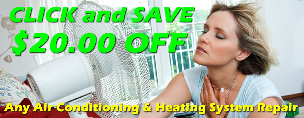 $20 Off Air Conditioning and Heating Repair